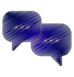 Speech bubbles sign vector image