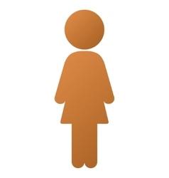 Standing Girl Gradient Icon vector