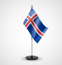 Table flag of Iceland vector image