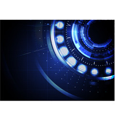 technological abstract digital cyber hud vector image