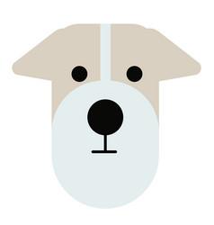 Terrier dog simple art geometric vector