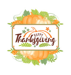 thanksgiving typographyhappy thanksgiving day vector image