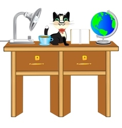 Worker table vector image