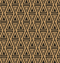seamless geometric pattern with triangles vector image