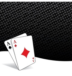 Stylized poker background vector image vector image