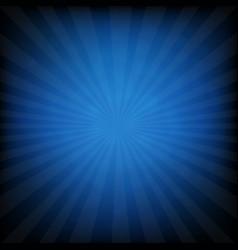 sunburst blue retro poster vector image
