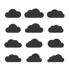Clouds Silhouettes Set on White Background vector image vector image