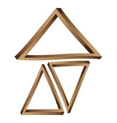 Fantastic triangles3 vector image vector image