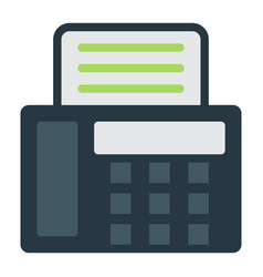 Fax flat icon contact us and website vector