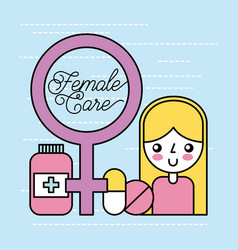 femal care important vector image