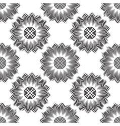 geometric flower seamless pattern vector image