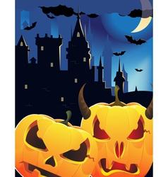 Halloween pumpkin head monsters vector image