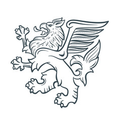 image of the heraldic griffin vector image vector image