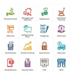 Personal business finance icons set 2 vector