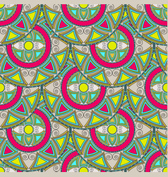 seamless pattern from multicolored circles vector image