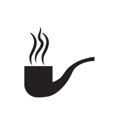 tobacco pipe smoking pictogram vector image