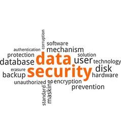 Word cloud data security vector