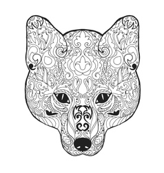 Zentangle stylized fox head Sketch for tattoo or vector image vector image