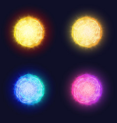 abstract glowing solar lens flare effect of vector image