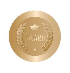 award gold round sign vector image