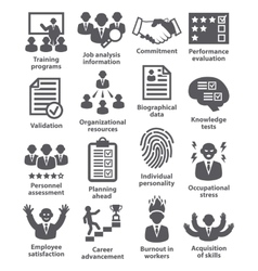 Business management icons pack 23 vector