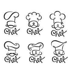 chef set vector image vector image