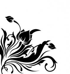 corner flower design vector image