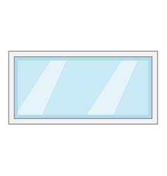 long window frame icon cartoon style vector image