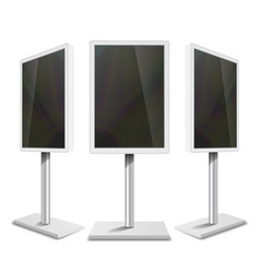 portable interactive digital signage white clean vector image