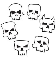 Skull Shape vector image