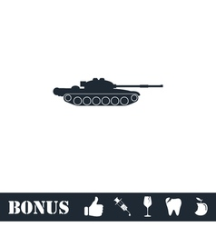 Tank army icon flat vector image