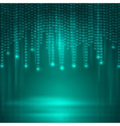 Abstract Background with binary code vector image