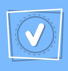 check point icon tick web button vector image