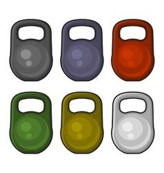 Color weight kilogram icon set vector
