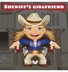 Fictional cartoon character - sheriffs girlfriend vector image vector image