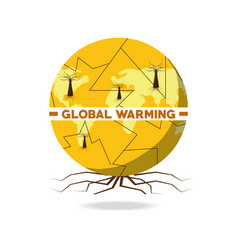 global warming design vector image