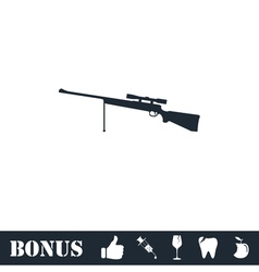 Weapon icon flat vector image vector image