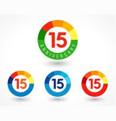 15 anniversary chart logo vector