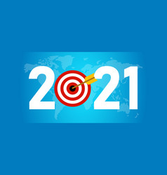 2021 new year target in business world wide vector image