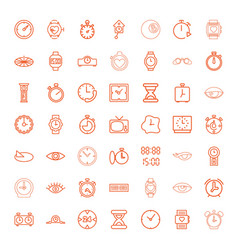 49 watch icons vector image