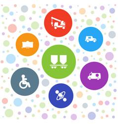 7 car icons vector
