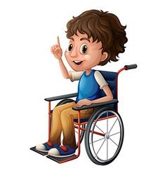 A wheelchair with a boy vector image
