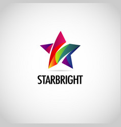 abstract colorful star logo symbol vector image