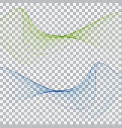 abstract elegant green blue waves vector image