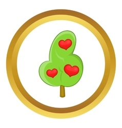 Abstract heart tree icon vector