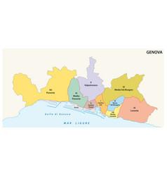 administrative map ligurian capital genoa vector image