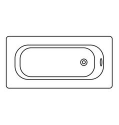 air view bathtube icon outline style vector image
