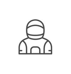 Astronaut costume line outline icon vector