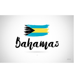Bahamas country flag concept with grunge design vector