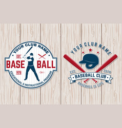 Baseball club badge concept vector
